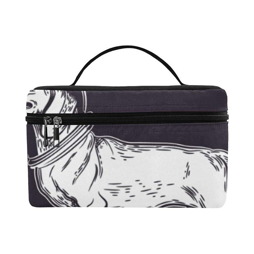 仮説火山の渇きTELSG メイクボックス すばしこいダックスフント犬 コスメ収納 化粧品収納ケース 大容量 収納ボックス 化粧品入れ 化粧バッグ 旅行用 メイクブラシバッグ 化粧箱 持ち運び便利 プロ用