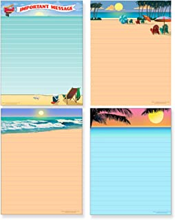 Beach Note Pad Pack - 4 Assorted Beach Theme Pads