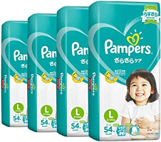 Pampers Baby Dry Tapes, Large, Carton, 54 Count (Pack of 4)