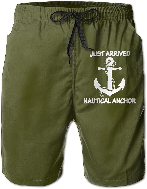 ef3d2d48d8059 Thesho Nautical Anchor Men's Beachwear Beach Beach Beach Swim Trunks Board  Shorts 5d1147