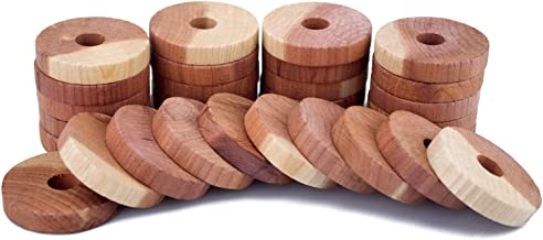 ACMETOP Aromatic Cedar Blocks for Clothes Storage, 100% Natural Cedar Balls Hangers, Storage Accessories Closets & Drawers (30 Pack)