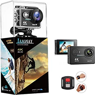 4K Action Camera,Full HD Waterproof DV Camcorde, 2.0 Inch LCD 170¡ã Wide Angle WiFi Sports Cam with Remote and Mounting Accessories Kit