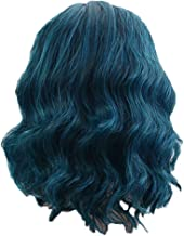 Fan-Ling 1pcs Women's Fashion Wig Blue Synthetic Hair Short Wigs Curly Wig, high Temperature Silk Wig ,Fashion Peacock Blue Natural Curly Wig