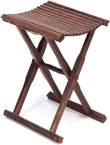 SCJS Chaise portative, Chaise de pêche Se Pliante en Bois Massif de Chaussures de Chaise de pêche portative de Chaise