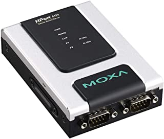 2-Port RS-232/422/485 Secure Device Server to Ethernet, -40 to 75°C Operating Temperature