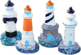 small lighthouse figurines