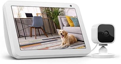 Echo Show 8 Sandstone with Blink Mini Indoor Smart...