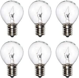 25 Watt Lava Lamp Bulb,E17 Base The Lava Original Replacement Bulb for 14.5 Inch Glitter and Lava Lamps,Pack of 6