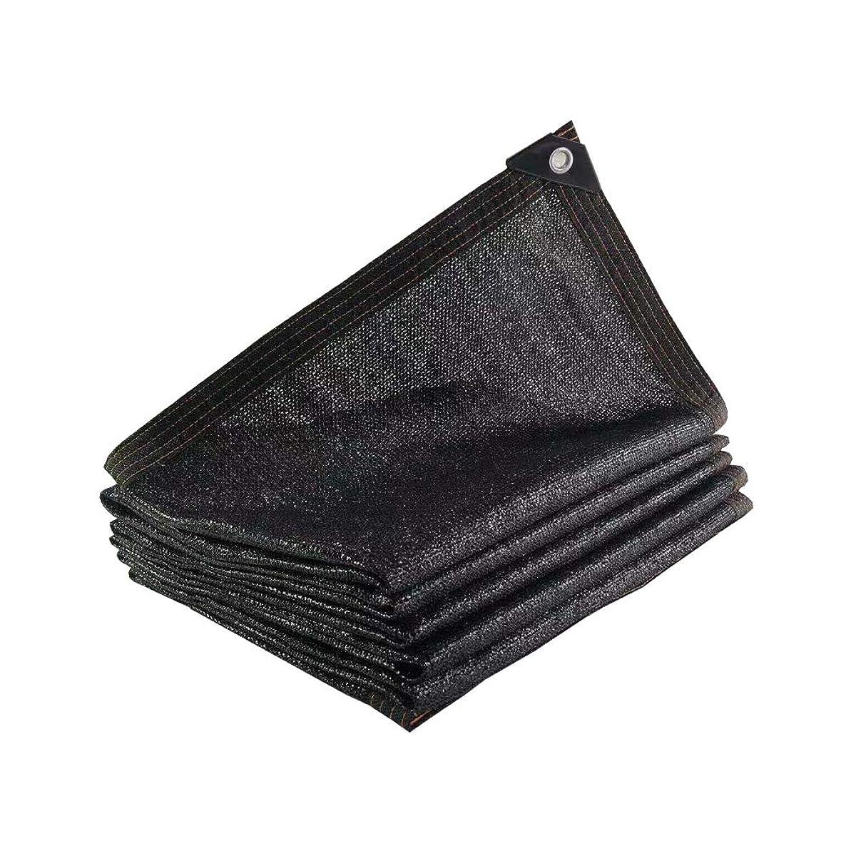 ピック本物接辞PeiQiH 95% グロメットで 日焼け止めシェードメッシュ,ブラック サンシェードクロス 耐紫外線,農業用遮光ネット 反-老化 用 温室 フラワーズ パティオ ブラック 3x5m(9.8x16ft)