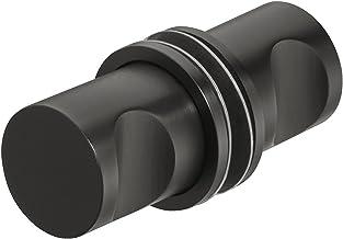 Gedotec H3035 Douche-deur-knop van roestvrij staal, zwart, glazen deurgreep voor douchedeuren - H3035 | douchecabineknop o...