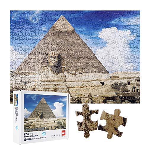 Herefun Kreative Klassische Puzzle, 1000 STK Teile Puzzle, Stress Freisetzung Spiel, Puzzlespiel, Jigsaw Lernspielzeug, Geschenke für Kinder Puzzle Spiel Geschenk (Pyramid)