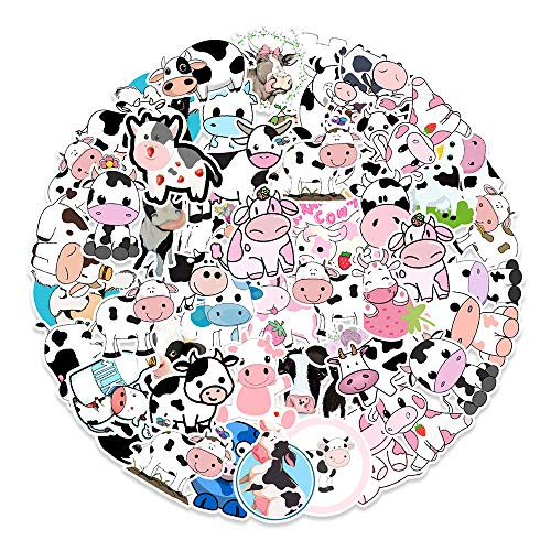 YZFCL Dibujos Animados Meng Vaca Pegatina refrigerador computadora teléfono móvil Taza de Agua Pegatinas Decorativas Venta al por Mayor 50 Uds.