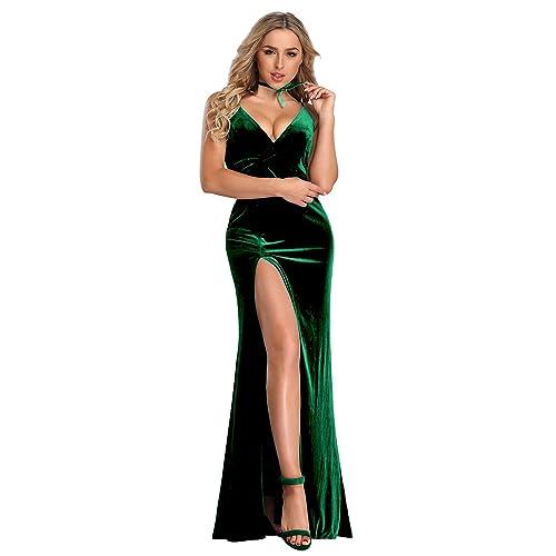 4452d5340fc0 Ever-Pretty Vestito Abito da Sera con Scollo a V in Velluto da Donna con