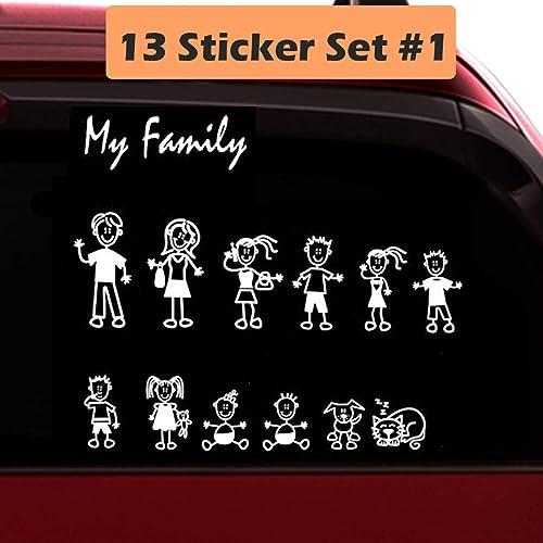 Family Car Sticker-Compact Kit Coloured Set