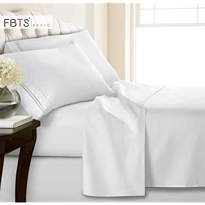 Queen Sheets, Fitted Flat 4 Piece Bed Sheet Set...