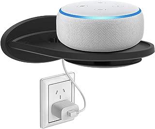 ATiC スマートスピーカー スタンド ホルター ベビーモニター スタンド型の充電スペース 壁掛けスタンド ウォール充電ホルダー スマホスタンド 壁差し 充電しながら 収納 耐荷重:6.8kg Echo Echo Dot 2/3 Echo Spot Google Home Wireless Speakers スマホ toothbrush に対応 Black