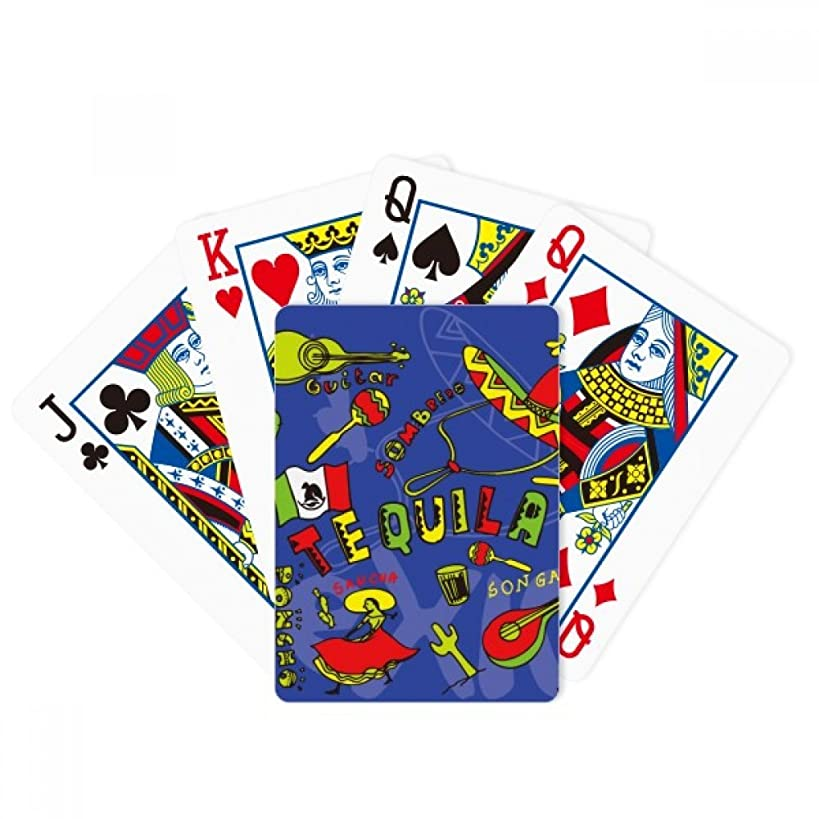 DIYthinker Tequila Sombrero Guitar Chili Mexico Elment Poker Playing Cards Tabletop Game Gift