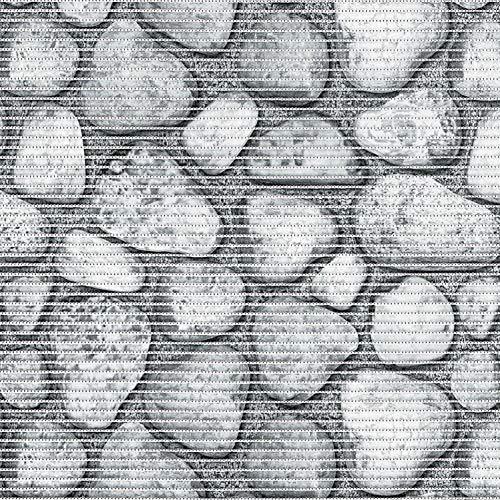 DecoHomeTextil Aqua Mat Bodenbelag Badvorleger Duschmatte Breite 130 cm Länge und Farbe wählbar Steine Grau 130 x 250 cm abwaschbar Bodenmatte Badematte