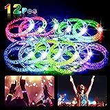 Nasharia LED Armband Set, 12 Stück 7 Farbe Knicklichter Leuchtstab Glowstick Leuchtstick, blinkend...