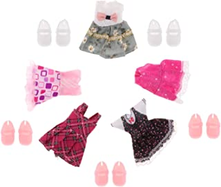 LuDa Handmade 1:12 Princess Outfits Costumes W/Shoes 16cm Girl Doll Cloth Accs - Style2