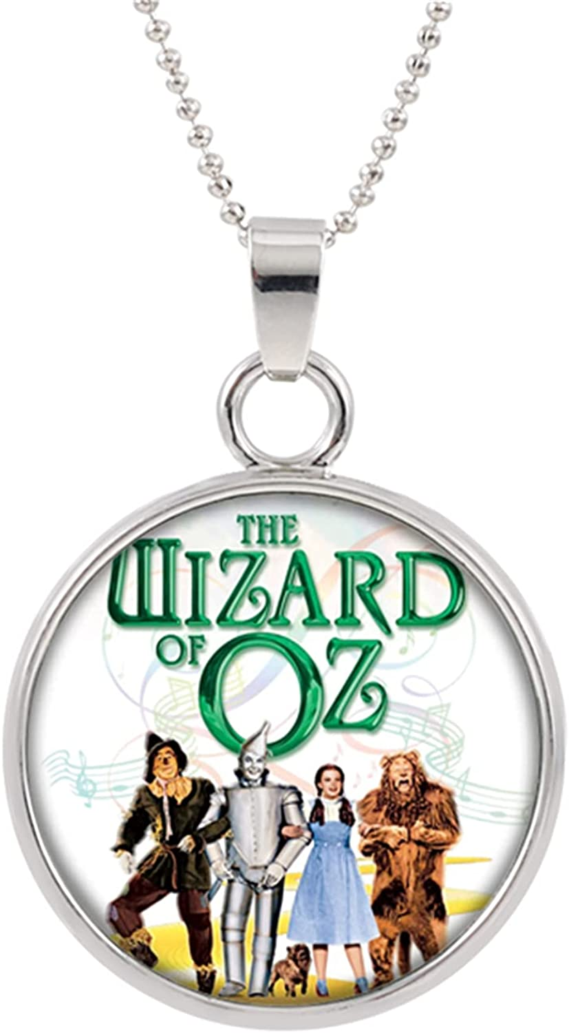Wizard of Oz Necklace, Anime Cartoon Metal Pendants, Gifts for Women, Men, Girls and Boys