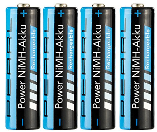 PEARL AA Accus: 4er-Set NiMH-Akkus AA Mignon, 2700 mAh (wiederaufladbare Batterien)