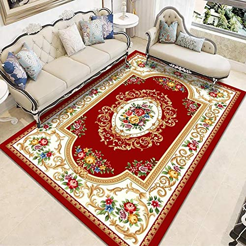 ZAZN Large Rectangular Carpet, Household Chinese Floor Mats Can Be Used For Sofas, Coffee Tables, Balcony Bay Window Blankets, Non-Slip, Wear-Resistant, Washable