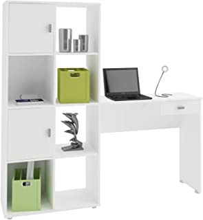 Artely America with 4 Shelves, 2 Doors and 1 Drawer, White, Wood