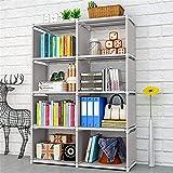 Estanterías For Niño / Niños habitación o en la guardería con patas de almacenamiento libro Organizador 8 estantes Estantes tela suave del organizador del almacenaje de estantería Estantería moderna l