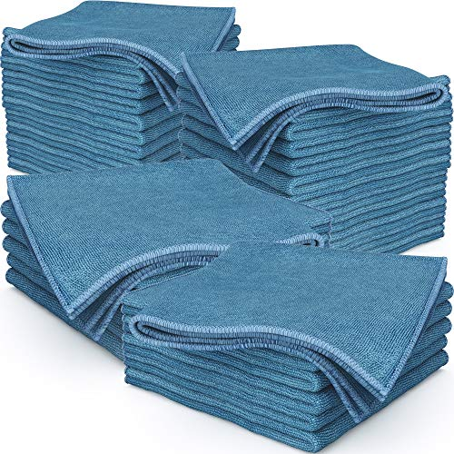 Pro Grade, Never Scratch 16x16 Microfiber Towel 36 Pk. Absorbent Cleaning and Polishing Towels for Car, Kitchen or Bathroom. Best Duster Cloth, Shop Rag or Buffing Pad is Lint Free, Machine Washable