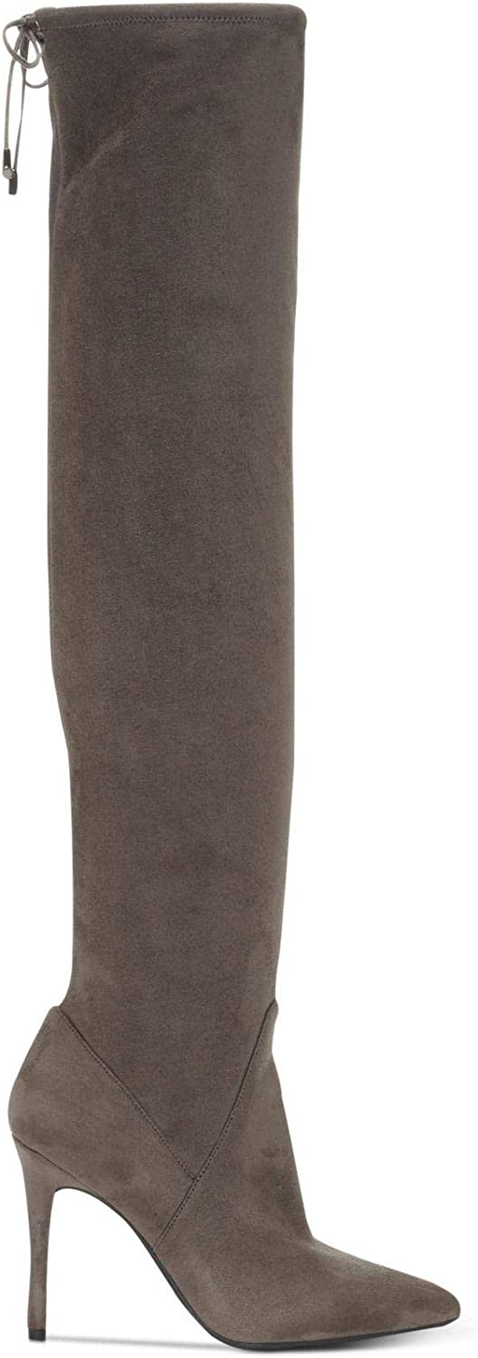 Jessica Simpson Womens Lessy Fabric Pointed Toe Over Knee, Grey, Size 9.0