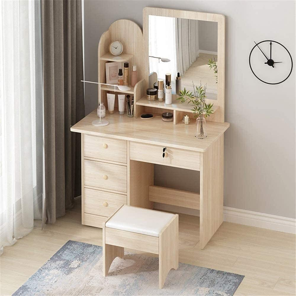 LXYLXY Makeup Tucson Mall Organizer Vanity Table Super-cheap Set Vanit Wooden Furniture