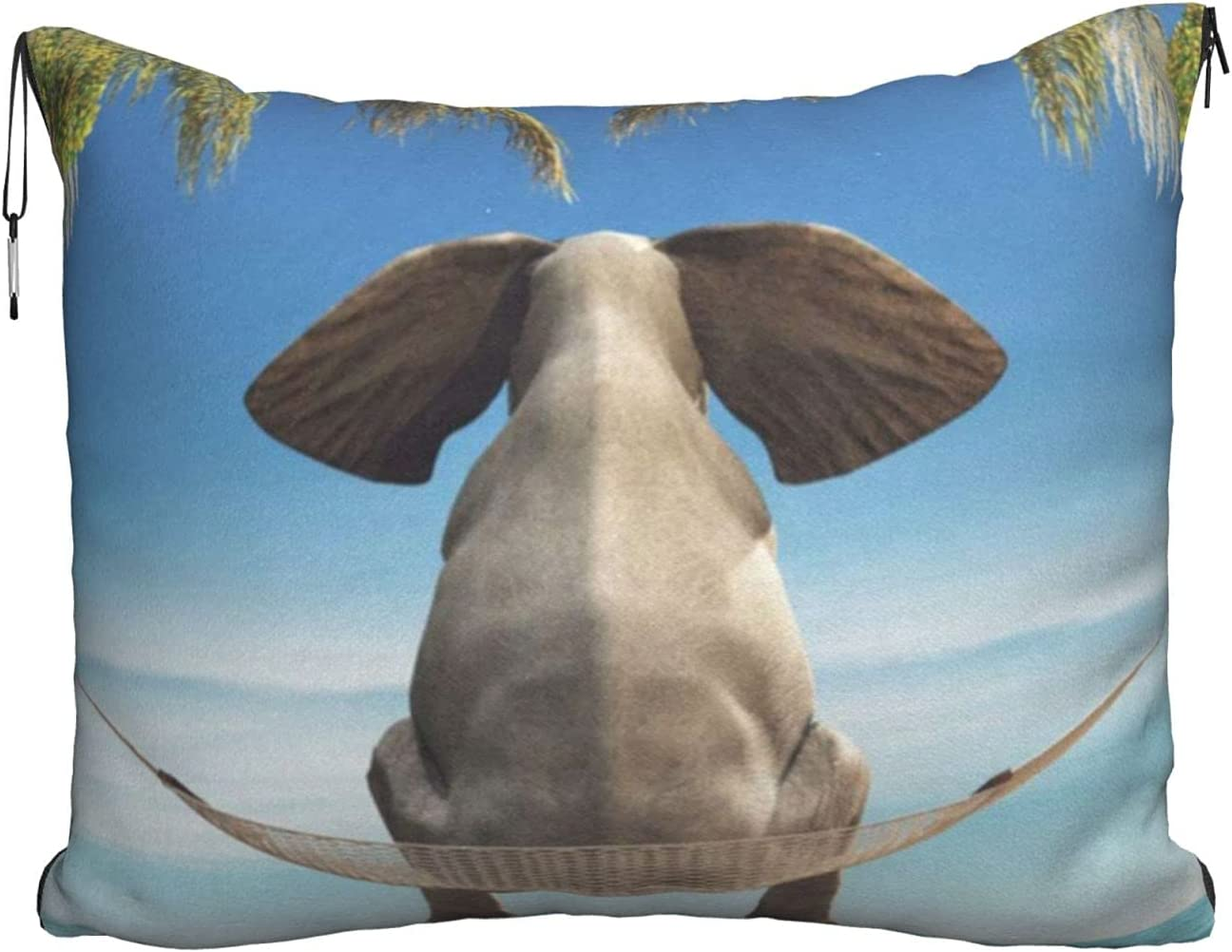 Mescchsktropical Swing Elephant Print Travel Outlet sale feature Shipping included Blanket Pillow Comb