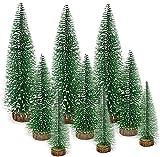 Gxhong Mini Grün Tannenbaum, Künstlicher Weihnachtsbaum, Mini Weihnachts Baum 10/15/20 cm, Tannenbaum für Tischdeko, DIY, Schaufenster (9 Stück)