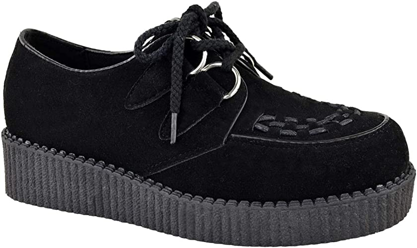 Details about  /Rainbow 11cm Platform Boots Shoes Creepers Womens Transparent Lace Up All UK Sz