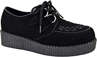 Fashion Thirsty Womens Creeper Goth Punk Platform Lace Up Shoes Flat Size