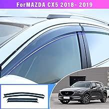 Maite Side Window Deflector For Mazda CX-5 2018 2019 Original Window Visors Sun Rain Guard 4Pcs