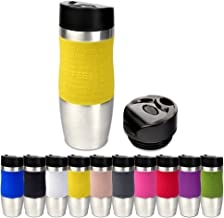 Schramm® Thermosbeker in 10 kleuren incl. reservedeksel geïsoleerde beker ca. 400ml thermoisoleerbeker koffiemok reismok B...