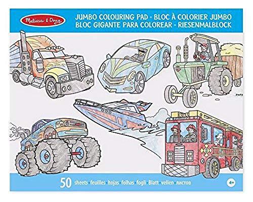 Melissa & Doug- Vehicles Bloc de Colorear, Multicolor (14205)