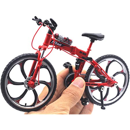 Wear-Resistant Foldable Alloy Bike Toys Finger Mountain Bike Bicycle Simulation Decoration Ornament for Home Nicemeet Mini Bicycle Model Creative Game Gift Toy