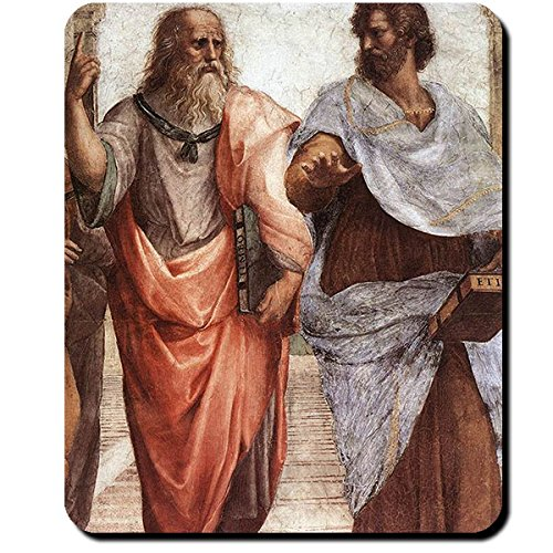 Platon und Aristoteles Schule Athens 1509 Atlantis Philosoph Sokrates Gemälde Griechenland - Mauspad Mousepad Computer Laptop PC #16417