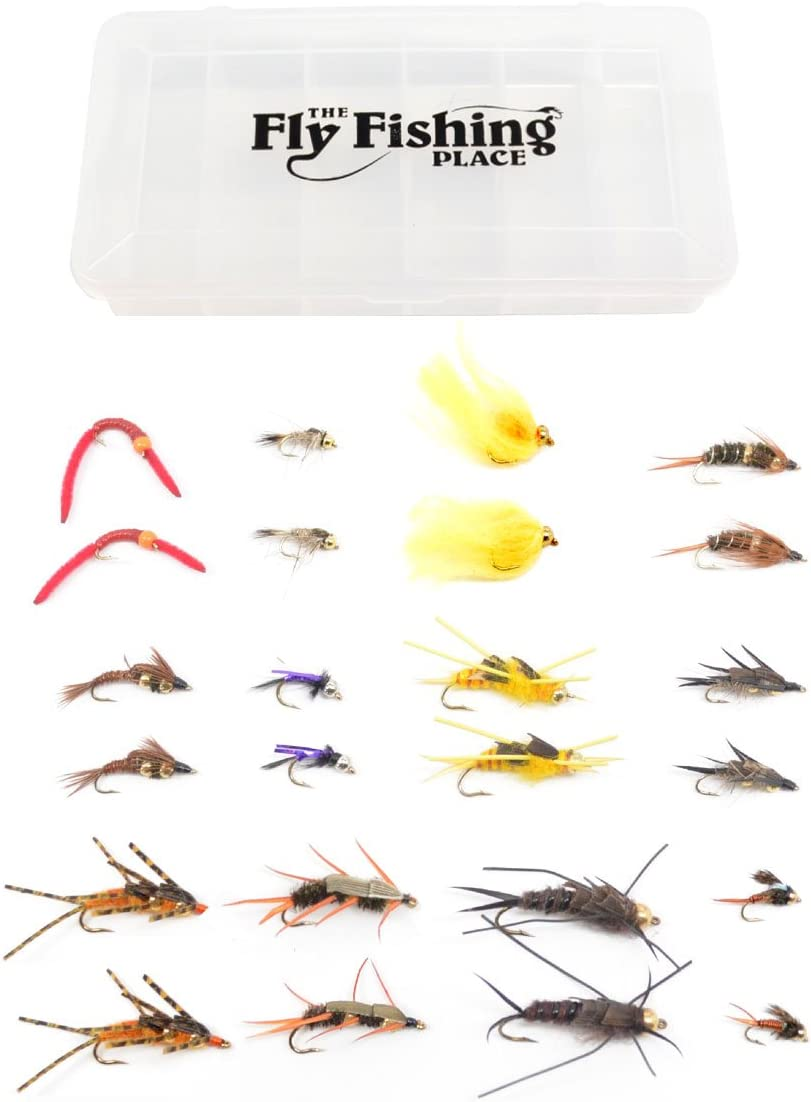 Trout Fly Assortment - Essential NEW before selling ☆ Bead Head Double Nymph High material and