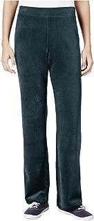 Karen Scott Petite Velour Pull-On Pants in Evergreen
