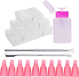 Nail Polish Remover Tools Set Including Nail Polish Remover Bottle Triangle Cuticle Pusher Stainless Steel Pusher 500 Pcs ...