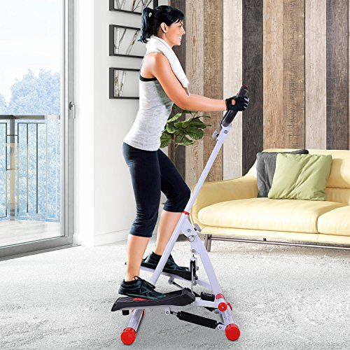 HOMCOM Home Stepper with Handle Hand Grip
