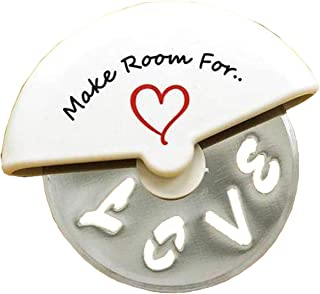 Make Room For Love Romantic Pizza Cutter Valentines or Sweetest Day Gift