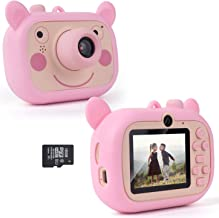 GOT7 Children's Camera, Age 3 to 4 5 6 7 8 9 10 Years Old Girl Digital Camera Gift, Mini Rechargeable Child Camera Creative Camcorder for Small Girls Using 16GB SD Card (Pink)