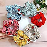 6 Pcs Premium Scrunchies for Hair Cute Designed Hair Scrunchies Perfect for Thick Hair,Hair Scrunchies Hair Bands for Women or Girls Great Gift for Christmas