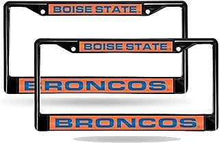 Rico Boise State Broncos NCAA Black Metal (Set of 2) Laser Cut License Plate Frames