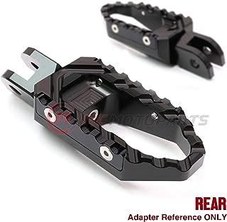 MC Motoparts Black Anti-Slip Rear Wide CNC Touring Foot Pegs For Yamaha YZF R1 00-14 R6 03-16 Vmax 1700 09-17 YZF R1M R1S